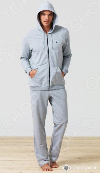 Толстовка домашняя мужская BlackSpade 7305. Цвет: серый меланж