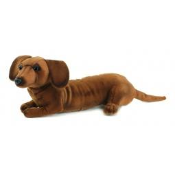 фото Мягкая игрушка для ребенка Hansa «Щенок таксы»