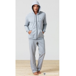 фото Толстовка домашняя мужская BlackSpade 7305. Цвет: серый меланж. Размер одежды: 2XL
