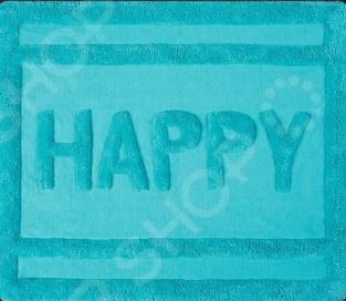 Коврик для ванной Spirella HappyКоврики<br>Коврик для ванной Spirella Happy это прямоугольный коврик для ванной, который оформлен в оригинальном дизайне. Этот коврик подарит ощущения комфорта после душа, а кроме того, дополнит интерьер вашей ванной комнаты. Коврик прост в использовании и не требует дополнительного ухода, его можно легко очистить в стиральной машине с небольшим количеством порошка. После стирки необходимо просушить на открытом воздухе или в машине на щадящем режиме, но не на батареях или других нагревательных приборах.<br>