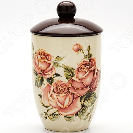 Банка для сыпучих продуктов Loraine LR-21671 «Розы»