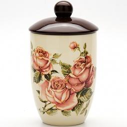 Купить Банка для сыпучих продуктов Loraine LR-21671 «Розы»
