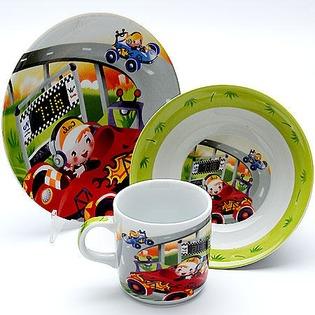 Купить Набор посуды для детей Loraine «Гонки» 23387