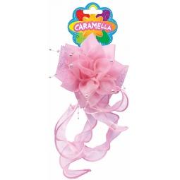 фото Бант с резиночкой для волос Росмэн Caramella с бусинками. Цвет: розовый
