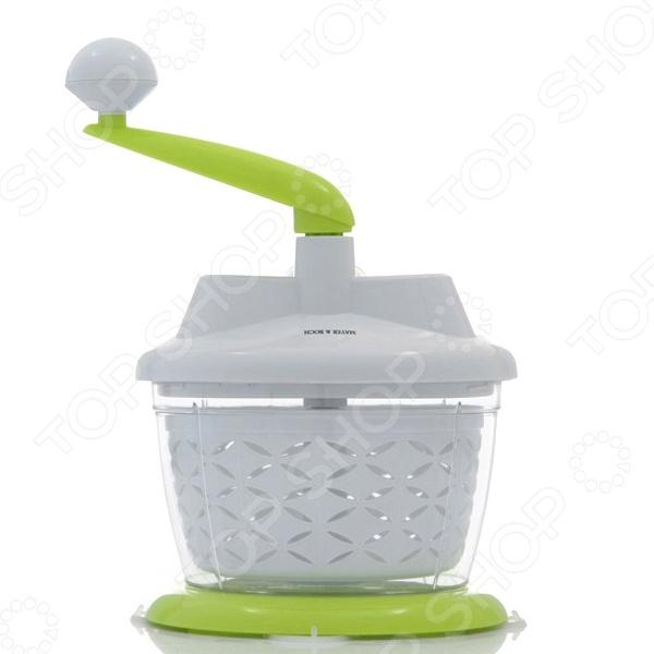 Комбайн кухонный Mayer&amp;amp;Boch MB-23303Кухонные комбайны<br>Комбайн кухонный Mayer Boch MB-23303 - удобная и практичная модель, которая позволит быстро измельчить различные продукты. Комбаин механический, поэтому его можно использовать даже в местах где нет доступа к электричеству, например на даче. Модель выполнена из качественных и безопасных материалов, которые не меняют вкусовых качеств приготавливаемых продуктов.<br>