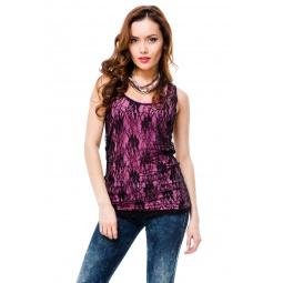 фото Майка Mondigo 8641. Цвет: темно-розовый. Размер одежды: 46