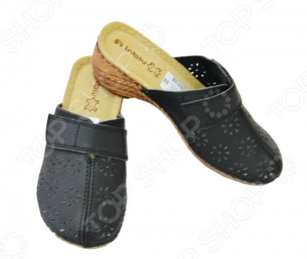 Сабо Инблу «Дебора»Сабо<br>Сабо Инблу Дебора невероятно удобная обувь для летнего сезона. Иногда так трудно подобрать комфортную и одновременно модную обувь, однако сабо помогут решить вам эту задачу. Ногам в них будет легко и не жарко, при этом они подойдут как для прогулок, так и для домашнего использования.  Мягкие и легкие сабо. Перфорированный верх выполняет не только практичную функцию, но и декоративную.  Верх сделан из искусственной кожи, а стелька из натуральной. Устойчивая подошва изготовлена из полиуретана.  Подойдут даже ногам с проблемными зонами.<br>