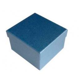 фото Коробка подарочная Феникс-Презент «Голубой». Размер: S (9х9,5 см). Высота: 6 см
