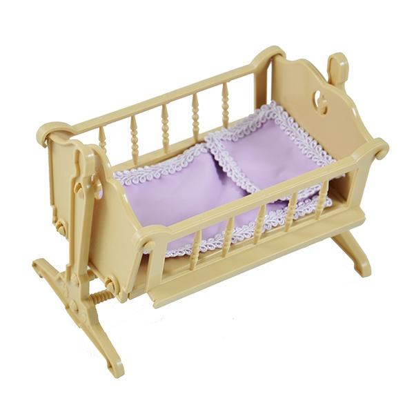 Кроватка для кукол Огонек «Колыбель» колыбель для куклы с аксессуарами белая для мини кукол