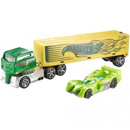 фото Набор машинок: трейлер-тягач и гоночная Mattel BDW52 «Rig Dog»