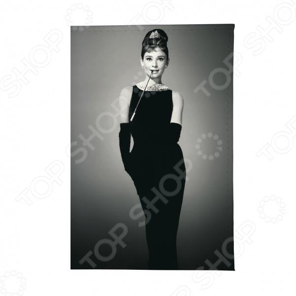 Обложка для автодокументов Mitya Veselkov «Одри в черном платье» обложка для автодокументов кожаная mitya veselkov одри в черном платье