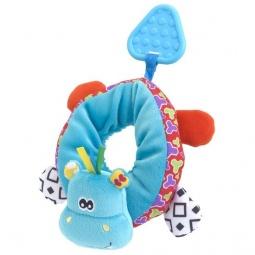 фото Мягкая игрушка развивающая Жирафики «Браслет на ножку. Бегемотик»