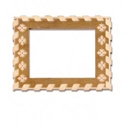 фото Фоторамка деревянная для изготовления магнита RTO «Плетенка»