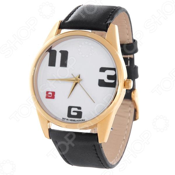 Часы наручные Mitya Veselkov «3-6-8-11» Gold