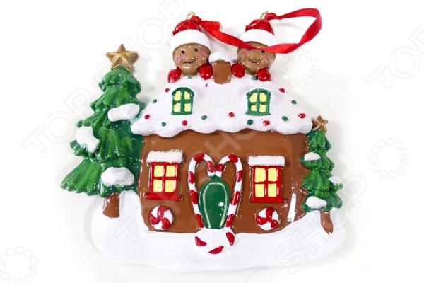 Елочное украшение Crystal Deco «Новогодний домик» 1707822