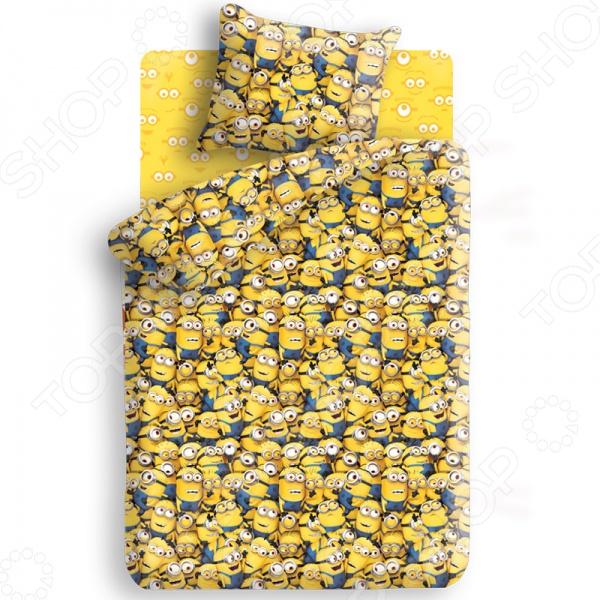 Детский комплект постельного белья Непоседа «Миньоны» постельное белье непоседа тролли подружки 9023 1 9024 1 комплект 1 5 спальный бязь 476514