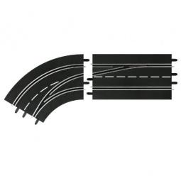 Купить Дополнения к треку Carrera «Поворот слева со сменой полосы с внутренней на внешнюю»
