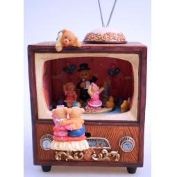 фото Музыкальная шкатулка Crystal Deco «Мишки смотрят телевизор»