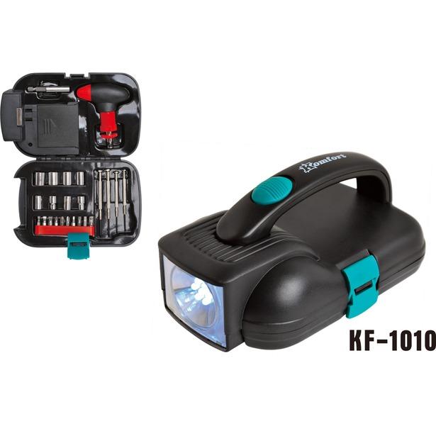 фото Набор инструментов с фонарем Komfort KF-1010