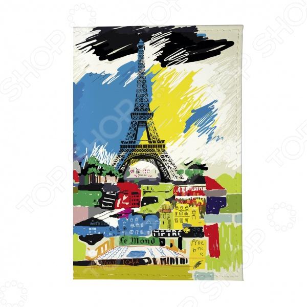 Обложка для автодокументов Mitya Veselkov «Париж в красках» обложка для автодокументов кожаная mitya veselkov гагарин
