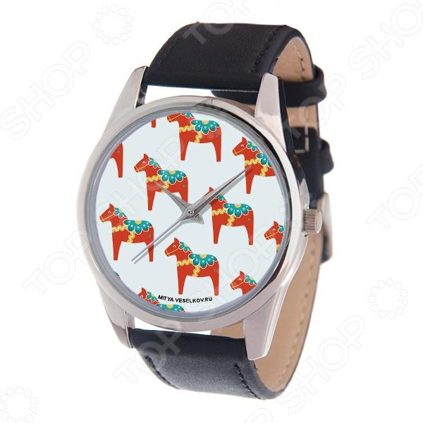 Часы наручные Mitya Veselkov «Много скандинавских лошадок» MV часы наручные mitya veselkov часы mitya veselkov много скандинавских лошадок арт mv 178