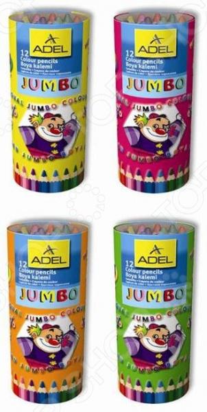 Набор карандашей цветных ADEL Jumbo Неха 211-9520-000