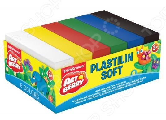 Набор пластилина мягкого Erich Krause 33302Лепка из пластилина<br>Набор пластилина мягкого Erich Krause 33302 предназначен для таких маленьких, но уже таких любознательных малышей. В яркой коробке находятся 6 брусочков пластилина разного цвета, из которых ваш ангелочек сможет слепить буквально все, что захочет. Пластилин крайне пластичен, не липнет к рукам и не высыхает на открытом воздухе. Представленный набор нетоксичен и абсолютно безопасен для здоровья. Лепка развивает усидчивость, фантазию, образное восприятие и логическое мышление. Кроме того, у ребенка тренируется зрительная координация и мелкая моторика рук. Не упустите шанс порадовать юного мастера замечательным подарком! Вес одного бруска составляет 50 граммов. Набор поставляется в картонном поддоне.<br>
