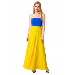 фото Юбка-сарафан Mondigo 7038. Цвет: желтый. Размер одежды: 44