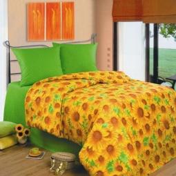 фото Комплект постельного белья Любимый дом «Подсолнухи», 1,5-спальный