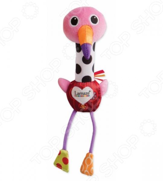 Игрушка развивающая мягкая Tomy «Веселый розовый фламинго»