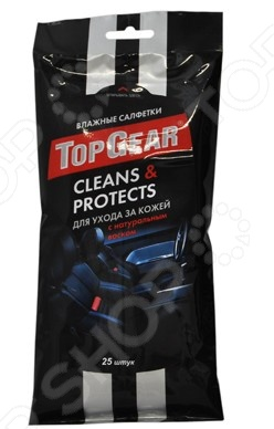 Набор салфеток влажных для ухода за кожаными поверхностями Авангард TG-48237 Top Gear