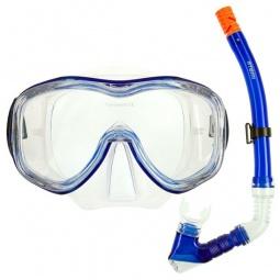 фото Набор из маски и трубки ATEMI 24104. Цвет: синий