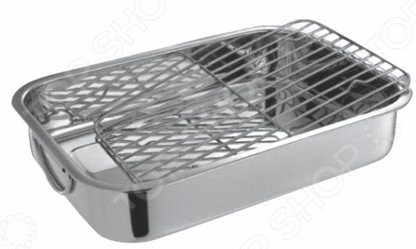 Форма с решеткой Bohmann BH - 6830Металлические формы для выпечки и запекания<br>Форма с решеткой Bohmann BH - 6830 это отличная форма для выпекания кексов, которая сделана из металла. Посуда идеально подходит для выпекания различной выпечки, ведь форма предотвращает тесто от вытекания , при этом, предоставляя возможность с легкостью извлечь готовую выпечку в предполагаемую тару для подачи на стол. В такой форме процесс приготовления будет происходить быстрее, очень удобно использовать форму для запекания мяса и рыбы. Можно мыть в посудомоечной машинке, форма не впитывает запах и легко очищается. Благодаря решетке вы можете приготовить и другие разнообразные блюда, к примеру птицу. Вам потребуется лишь выложить замаринованную утку или курицу на решетку, таким образом весь жир стечет в поддон, а сверху образуется румяная корочка.<br>