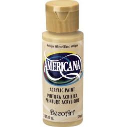 фото Краска акриловая DecoArt Премиум Americana. Цвет: белый антик