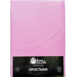 фото Простыня гладкокрашеная Сова и Жаворонок Premium. Цвет: светло-фиолетовый. Размер простыни: 145х220 см