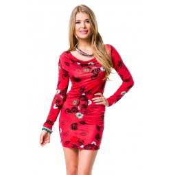 Купить Платье Mondigo 8656. Цвет: красный