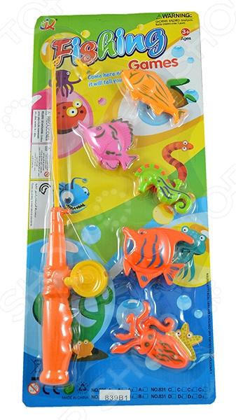 Рыбалка магнитная Shantou Gepai 839B1Магнитные игры<br>Рыбалка магнитная Shantou Gepai 839B1 станет чудесным подарком для вашего любимого чада. Основная идея игры состоит в том, что ребенок должен, с помощью магнитной удочки поймать всех рыбок. Подобные игры способствуют развитию у детей мелкой моторики рук, координации движений и когнитивного мышления. В комплекте удочка и пять рыбок. Предназначено для детей в возрасте от 3-х лет.<br>