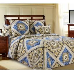фото Комплект постельного белья Белиссимо «Премьер». 2-спальный. Цвет: синий