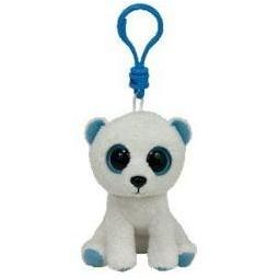 фото Мягкая игрушка с клипсой TY Белый медведь TUNDRA. Высота: 12,5 см
