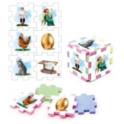 фото Пазл-кубик Нескучный кубик «Курочка Ряба»
