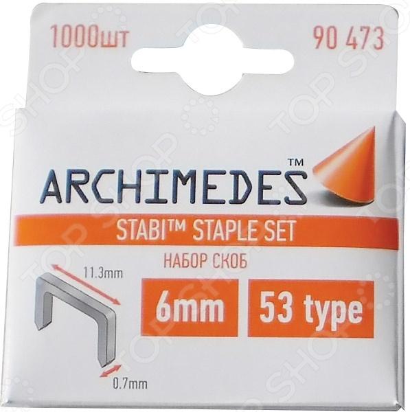 Набор скоб для степлера Archimedes Stabi шпатель для прикатки обоев archimedes stabi 90779