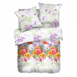 фото Комплект постельного белья Романтика «Цветочный этюд». 1,5-спальный