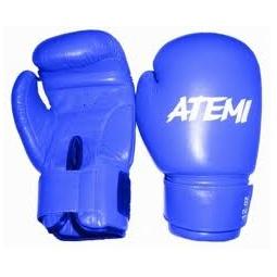 фото Перчатки боксерские ATEMI PBG-410 синие. Размер: 8 OZ