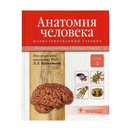 Купить Анатомия человека. В 3 томах. Том 3. Нервная система. Органы чувств. Учебник