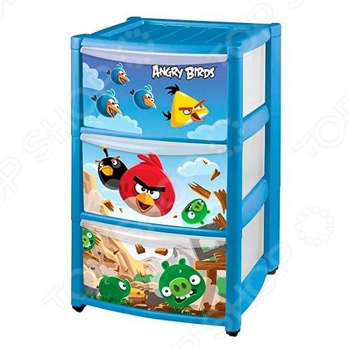фото Комод детский Бытпласт Angry Birds, Комоды детские