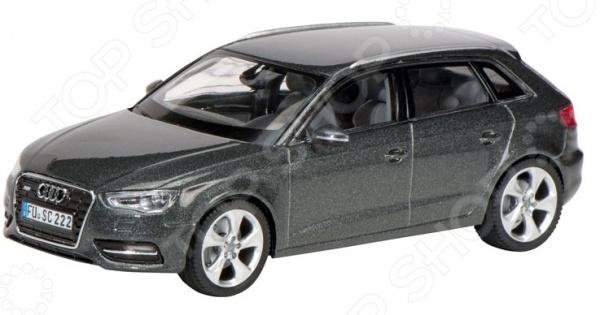Модель автомобиля 1:43 Schuco Audi A3 SportbackМодели авто<br>Модель 1:43 Audi A3 Sportback представляет собой точную копию настоящего немецкого автомобиля. Коллекционная модель выпущена известной компанией по производству игрушек Schuco. Особенность коллекции в том, что все игрушки изготовлены по лицензии именитых автопроизводителей. Машина изготовлена из металла с элементами пластика и обладает потрясающей детализацией. Яркий автомобиль разнообразит игровые ситуации, откроет новые сюжеты для маленького автолюбителя и поможет развить мелкую моторику рук, внимание и координацию движений. Модель 1:43 Audi A3 Sportback является отличным подарком не только ребенку, но и коллекционеру.<br>