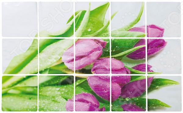 Стикер защитный на кафель Marmiton «Тюльпаны» 17101Декор стен. Постеры<br>Стикер защитный на кафель Marmiton Тюльпаны 17101 будет важным дополнением любой кухни, ведь он способен защитить фартук вашей плиты и стену около нее от пятен жира, потеков, брызг и прочих загрязнений, которых было бы крайне сложно избежать в процессе приготовлении еды и мытья посуды.<br>