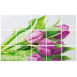 фото Стикер защитный на кафель Marmiton «Тюльпаны» 17101