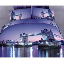 фото Комплект постельного белья Buenas Noches London. Satin Fotoprint. 2-спальный