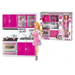 фото Набор мебели игрушечный Shantou Gepai с куклой My happy kitchen